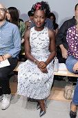 Actress Lupita Nyong'o attends Boss Womenswear Spring 2016 during New York Fashion Week The Shows at 245 Park Avenue on September 16 2015 in New York...