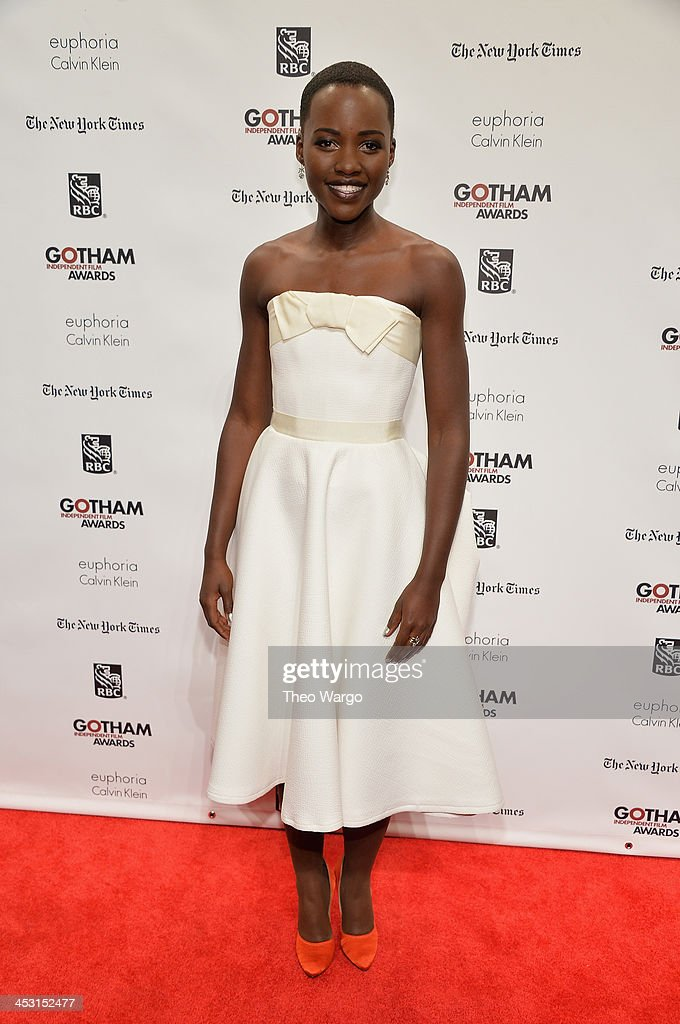 Actress <a gi-track='captionPersonalityLinkClicked' href=/galleries/search?phrase=Lupita+Nyong%27o&family=editorial&specificpeople=10961876 ng-click='$event.stopPropagation()'>Lupita Nyong'o</a> attends IFP's 23nd Annual Gotham Independent Film Awards at Cipriani Wall Street on December 2, 2013 in New York City.