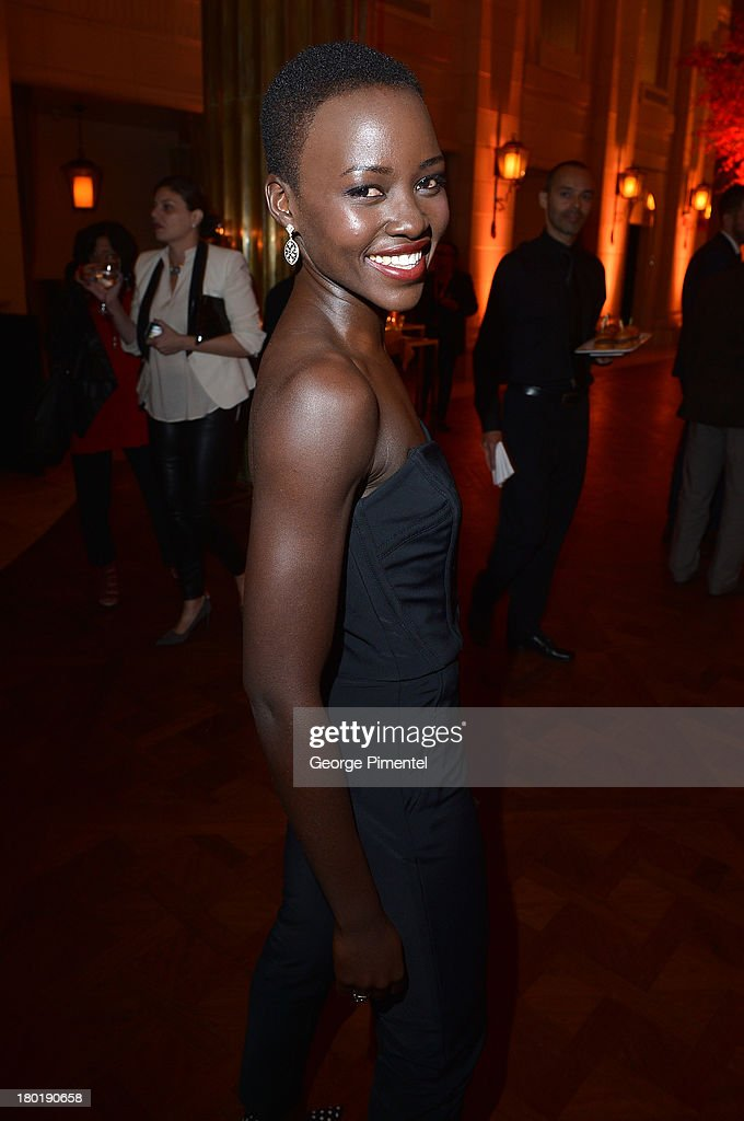 Actress <a gi-track='captionPersonalityLinkClicked' href=/galleries/search?phrase=Lupita+Nyong%27o&family=editorial&specificpeople=10961876 ng-click='$event.stopPropagation()'>Lupita Nyong'o</a> attends InStyle and the Hollywood Foreign Press Association's Annual Toronto International Film Festival Party, hosted by Salvatore Ferragamo on Monday, September 9, 2013 held at the Windsor Arms Hotel in Toronto, Canada.