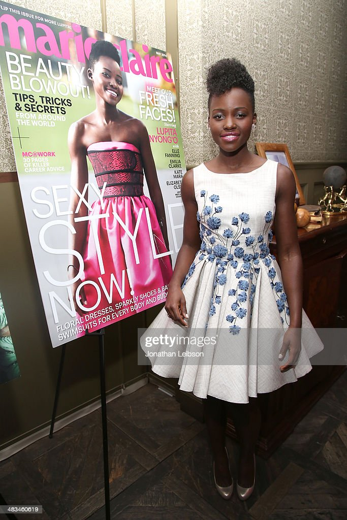 Actress <a gi-track='captionPersonalityLinkClicked' href=/galleries/search?phrase=Lupita+Nyong%27o&family=editorial&specificpeople=10961876 ng-click='$event.stopPropagation()'>Lupita Nyong'o</a> attends Marie Claire Celebrates May Cover Stars on April 8, 2014 in West Hollywood, California.