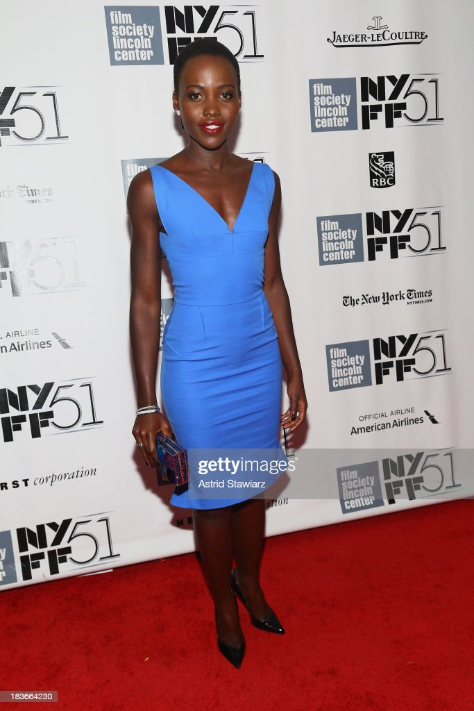 Actress <a gi-track='captionPersonalityLinkClicked' href=/galleries/search?phrase=Lupita+Nyong%27o&family=editorial&specificpeople=10961876 ng-click='$event.stopPropagation()'>Lupita Nyong'o</a> attends the '12 Years A Slave' premiere during the 51st New York Film Festival at Alice Tully Hall at Lincoln Center on October 8, 2013 in New York City.