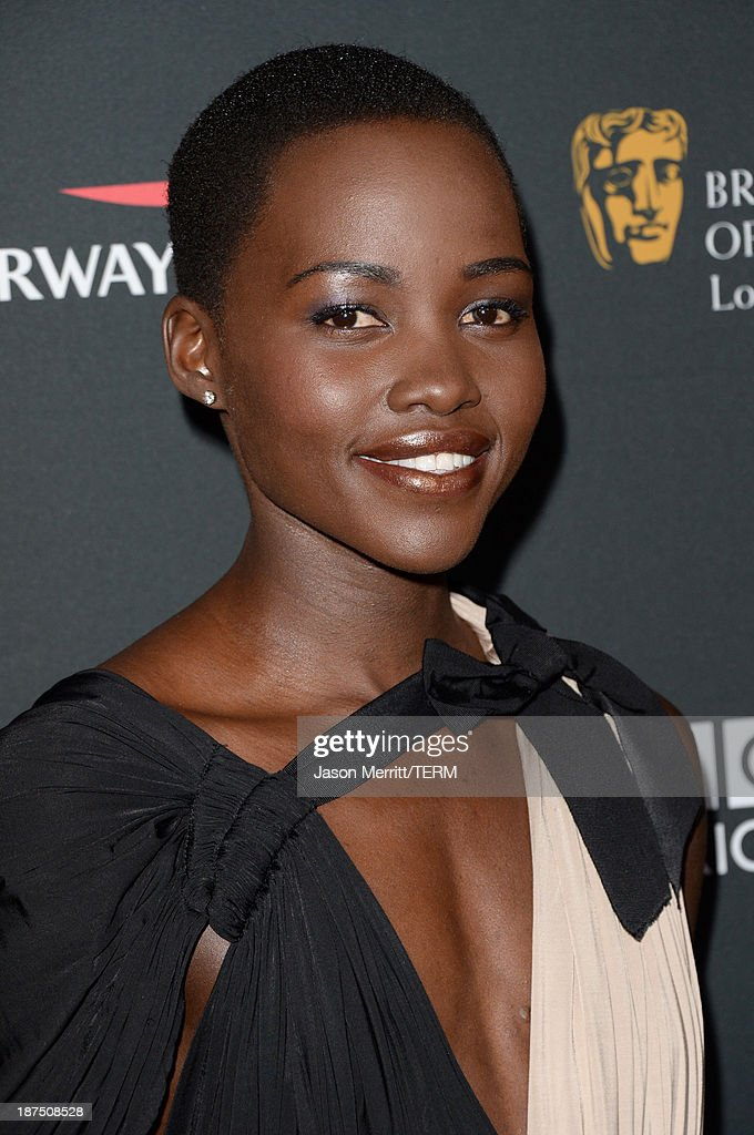 Actress Lupita Nyong'o attends the 2013 BAFTA LA Jaguar Britannia Awards presented by BBC America at The Beverly Hilton Hotel on November 9, 2013 in Beverly Hills, California.