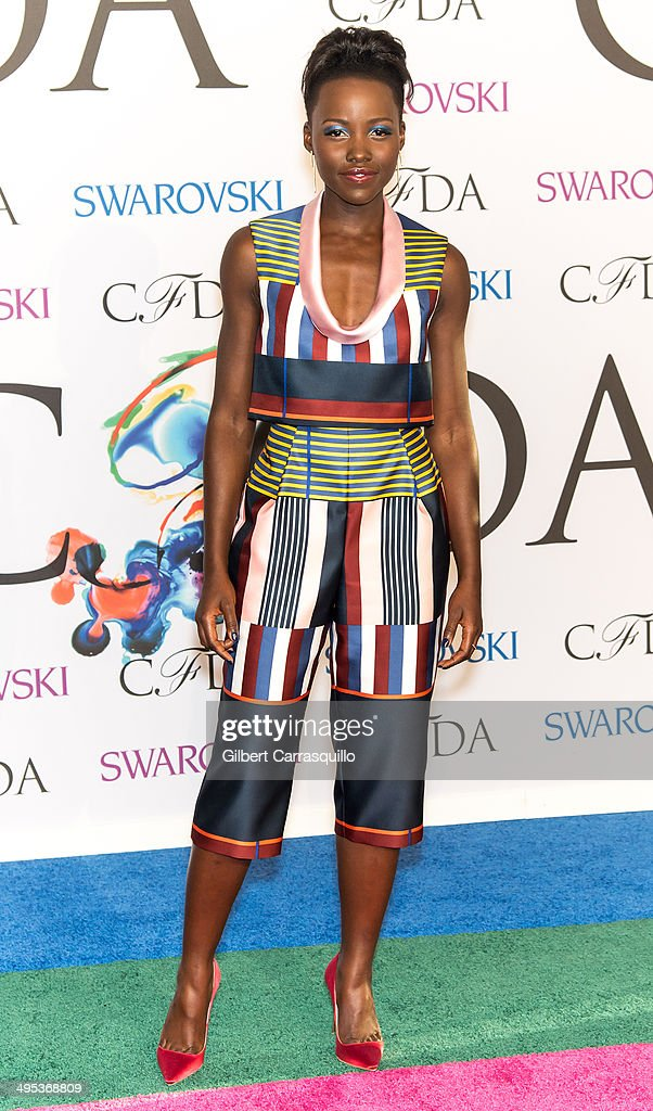 Actress Lupita Nyong'o attends the 2014 CFDA fashion awards at Alice Tully Hall, Lincoln Center on June 2, 2014 in New York City.