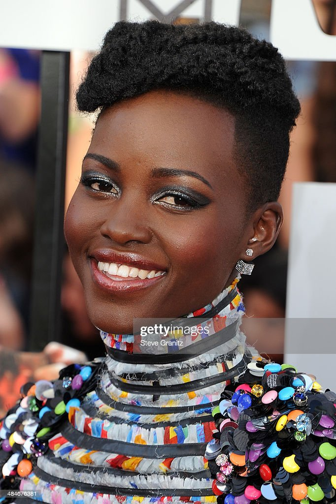 Actress Lupita Nyong'o attends the 2014 MTV Movie Awards at Nokia Theatre L.A. Live on April 13, 2014 in Los Angeles, California.