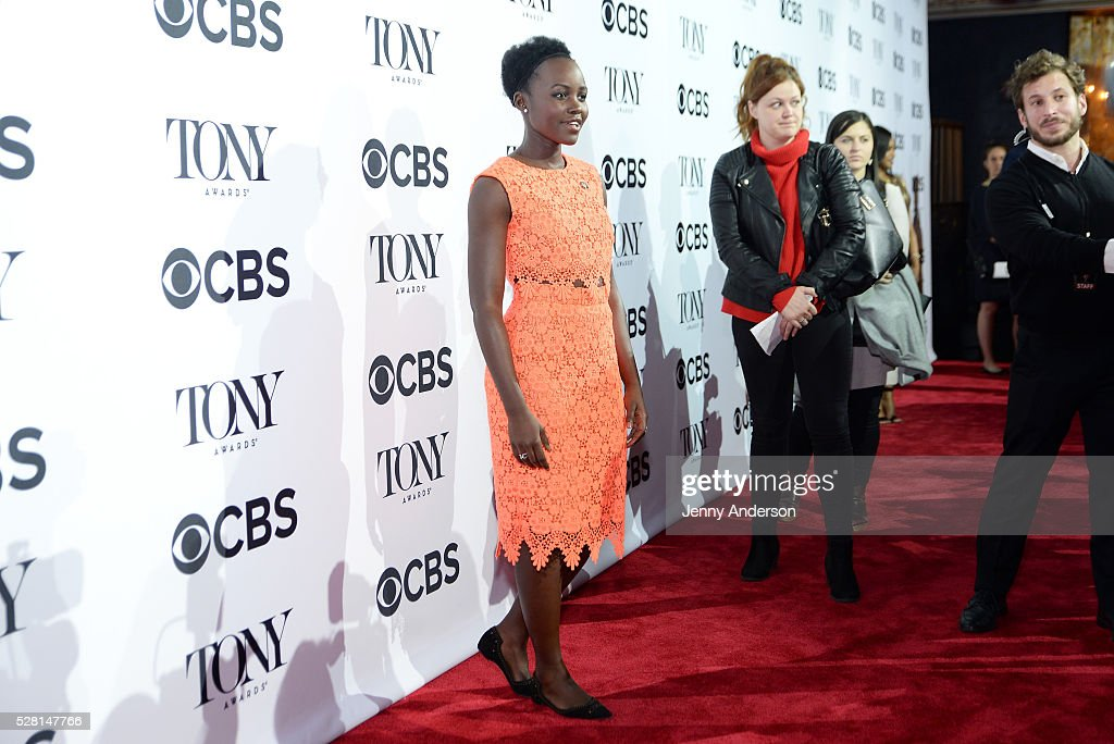 Actress Lupita Nyong'o attends the 2016 Tony Awards Meet The Nominees Press Reception on May 4, 2016 in New York City.