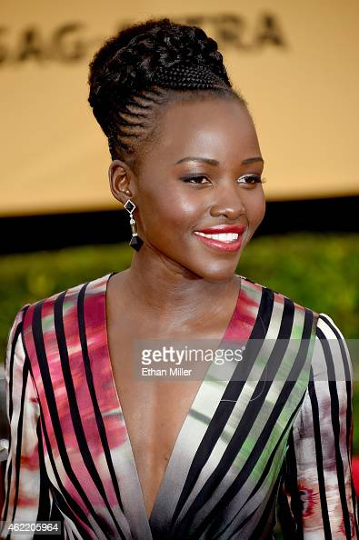 Actress Lupita Nyong'o attends the 21st Annual Screen Actors Guild Awards at The Shrine Auditorium on January 25 2015 in Los Angeles California