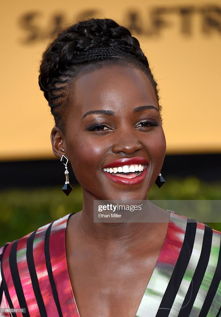 Actress Lupita Nyong'o attends the 21st Annual Screen Actors Guild Awards at The Shrine Auditorium on January 25, 2015 in Los Angeles, California.