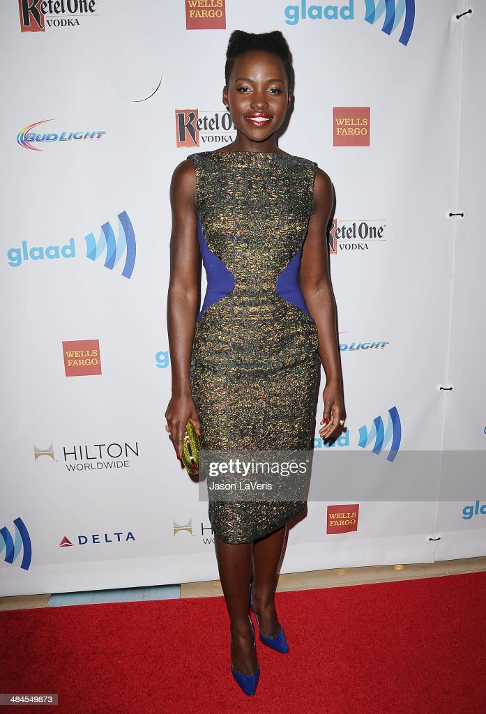 Actress Lupita Nyong'o attends the 25th annual GLAAD Media Awards at The Beverly Hilton Hotel on April 12, 2014 in Beverly Hills, California.