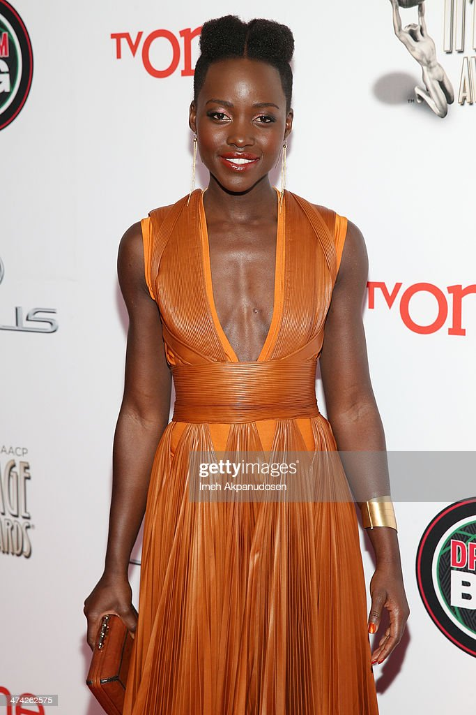 Actress Lupita Nyong'o attends the 45th NAACP Image Awards presented by TV One at Pasadena Civic Auditorium on February 22, 2014 in Pasadena, California.