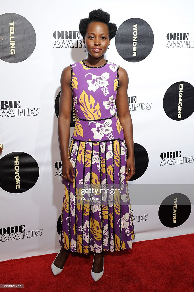 Actress Lupita Nyong'o attends the 61st Annual Obie Awards at Webster Hall on May 23 2016 in New York City