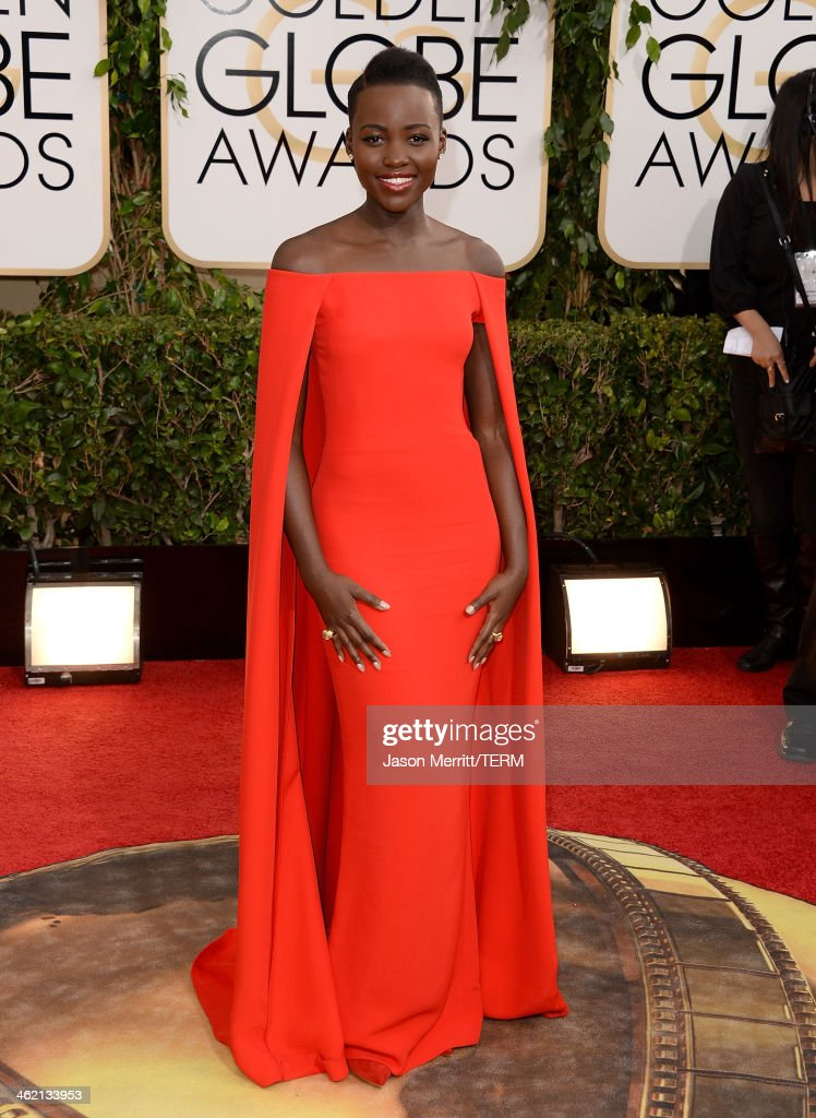 Actress Lupita Nyong'o attends the 71st Annual Golden Globe Awards held at The Beverly Hilton Hotel on January 12 2014 in Beverly Hills California