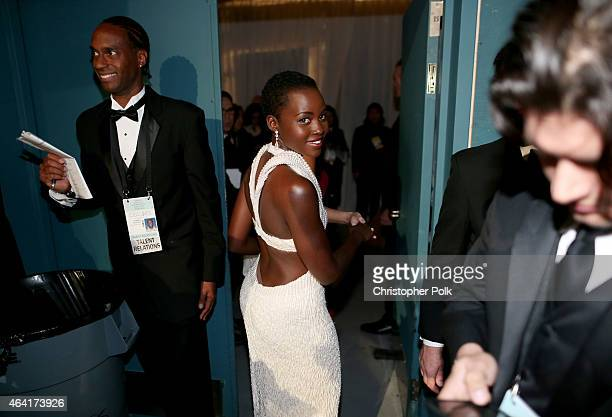Actress Lupita Nyong'o attends the 87th Annual Academy Awards at Dolby Theatre on February 22 2015 in Hollywood California