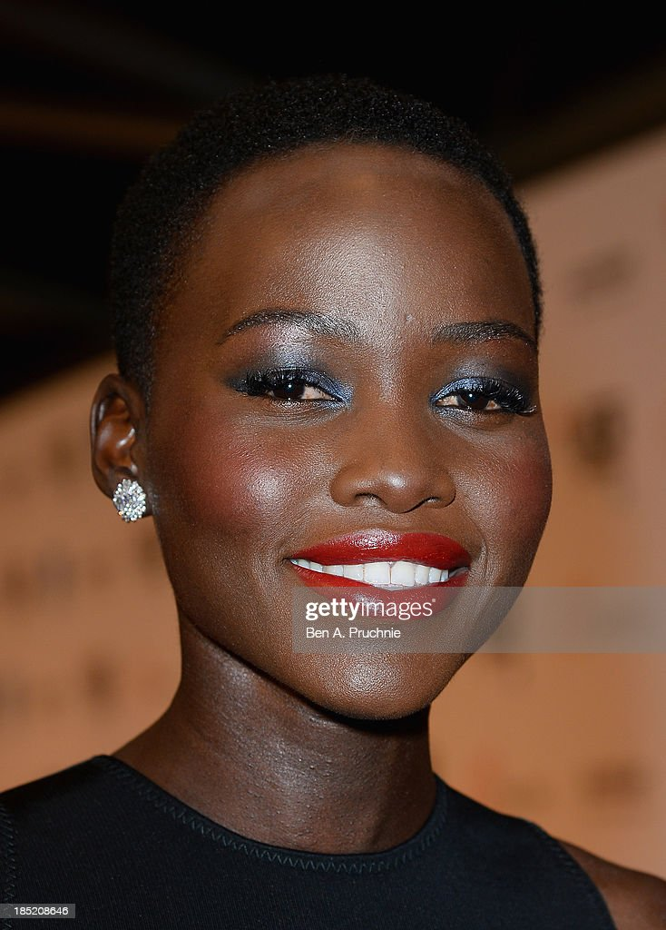 Actress <a gi-track='captionPersonalityLinkClicked' href=/galleries/search?phrase=Lupita+Nyong%27o&family=editorial&specificpeople=10961876 ng-click='$event.stopPropagation()'>Lupita Nyong'o</a> attends the Accenture Gala ahead of the premiere of 'Twelve Years A Slave' during the 57th BFI London Film Festival at the Langham Hotel on October 18, 2013 in London, England.