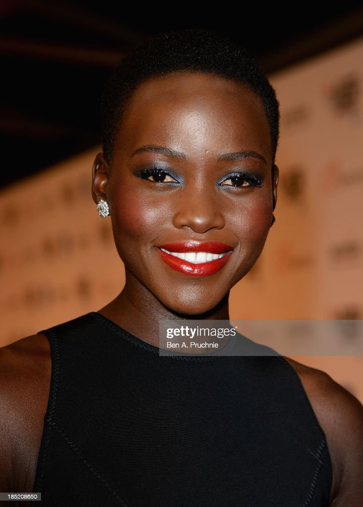 Actress Lupita Nyong'o attends the Accenture Gala ahead of the premiere of 'Twelve Years A Slave' during the 57th BFI London Film Festival at the Langham Hotel on October 18, 2013 in London, England.