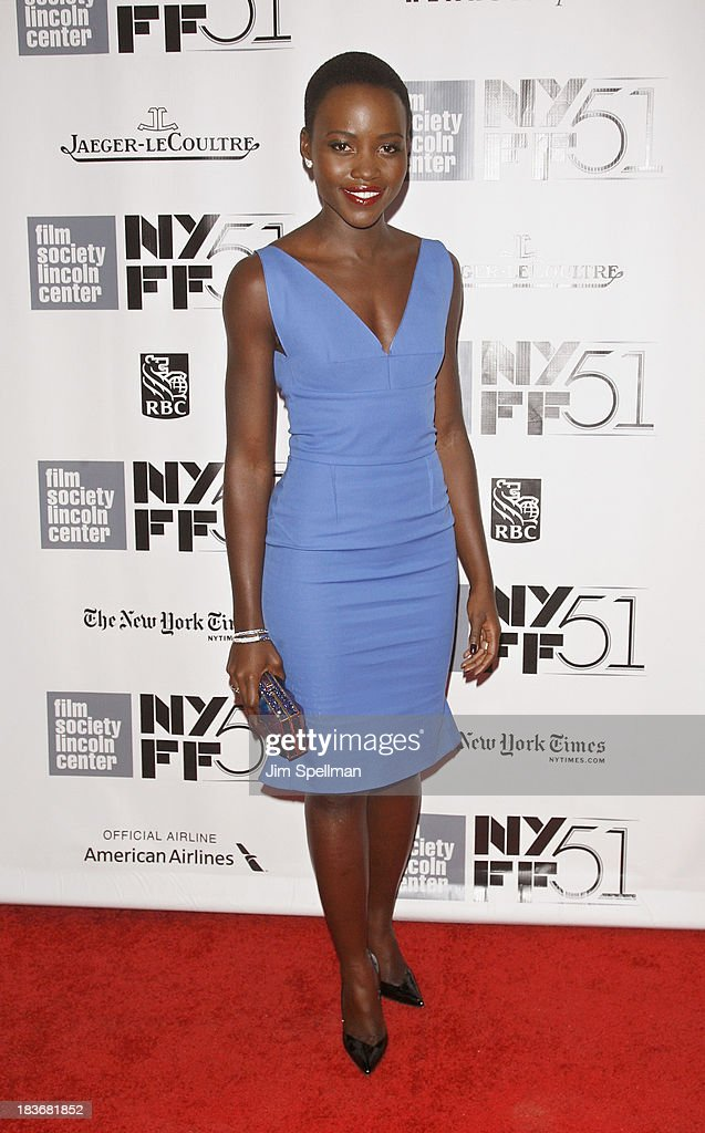 Actress <a gi-track='captionPersonalityLinkClicked' href=/galleries/search?phrase=Lupita+Nyong%27o&family=editorial&specificpeople=10961876 ng-click='$event.stopPropagation()'>Lupita Nyong'o</a> attends the 'All Is Lost', '12 Years A Slave' & 'Nebraska' Premieres during the 51st New York Film Festival at Alice Tully Hall at Lincoln Center on October 8, 2013 in New York City.