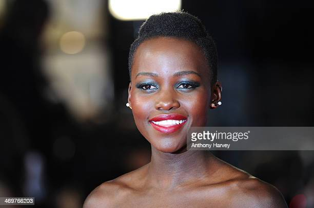 Actress Lupita Nyong'o attends the EE British Academy Film Awards 2014 at The Royal Opera House on February 16 2014 in London England