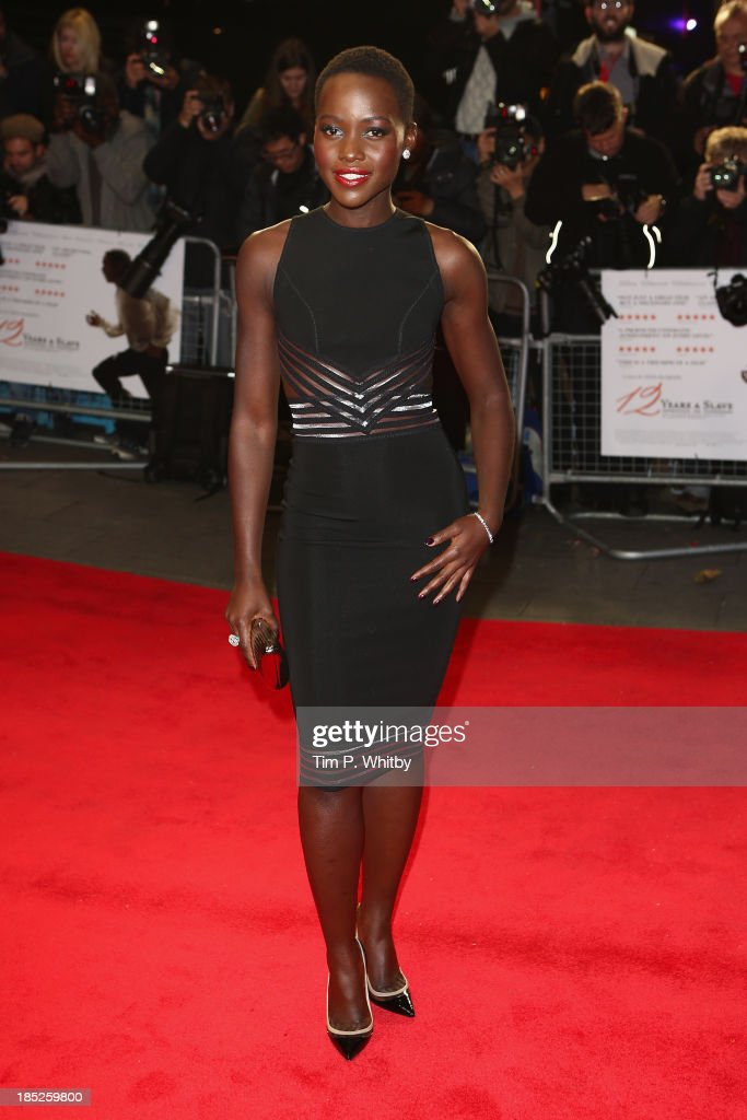 Actress <a gi-track='captionPersonalityLinkClicked' href=/galleries/search?phrase=Lupita+Nyong%27o&family=editorial&specificpeople=10961876 ng-click='$event.stopPropagation()'>Lupita Nyong'o</a> attends the European Premiere of 'Twelve Years A Slave' during the 57th BFI London Film Festival at Odeon Leicester Square on October 18, 2013 in London, England.