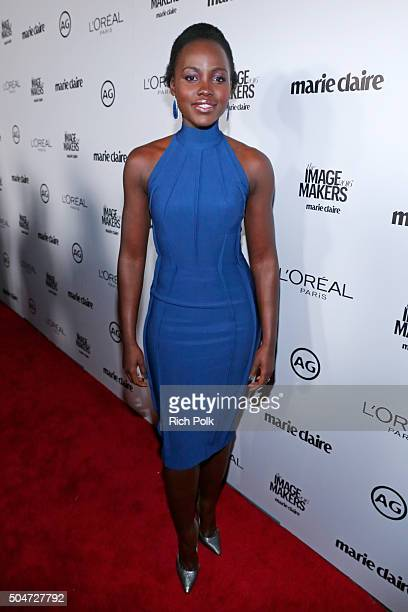 Actress Lupita Nyong'o attends the inaugural Image Maker Awards hosted by Marie Claire at Chateau Marmont on January 12 2016 in Los Angeles California