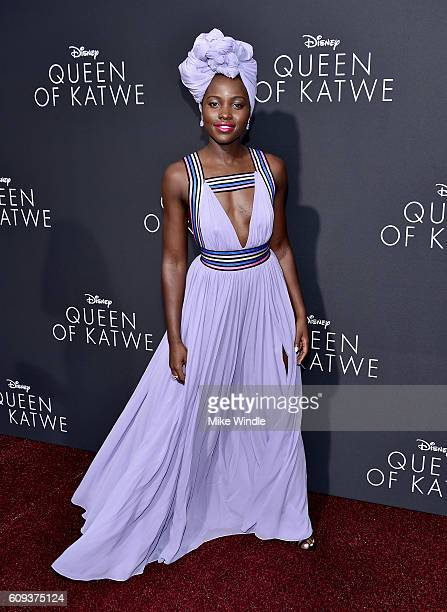 Actress Lupita Nyong'o attends the premiere of Disney's 'Queen Of Katwe' at the El Capitan Theatre on September 20 2016 in Hollywood California