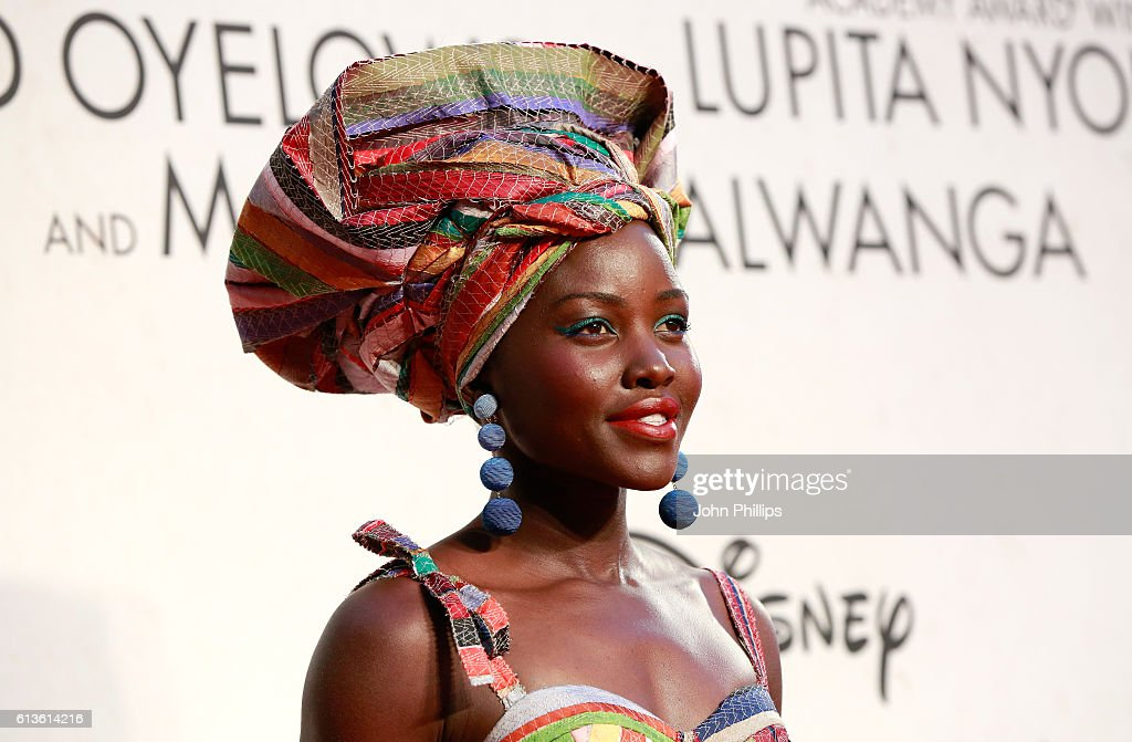 Actress Lupita Nyong'o attends the 'Queen Of Katwe' Virgin Atlantic Gala screening during the 60th BFI London Film Festival at Odeon Leicester Square...