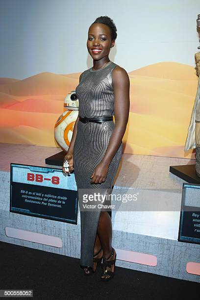 Actress Lupita Nyong'o attends the 'Star Wars The Force Awakens' Mexico City premiere fan event at Cinemex Antara Polanco on December 8 2015 in...