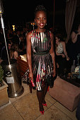 Actress Lupita Nyong'o attends The Weinstein Company Netflix's 2015 SAG After Party In Partnership With Laura Mercier at Sunset Tower on January 25...