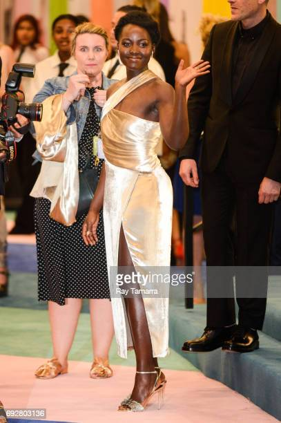 Actress Lupita Nyong'o enters the CFDA Fashion Awards at Hammerstein Ballroom on June 5 2017 in New York City