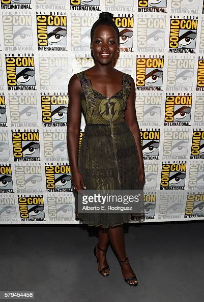 """Actress Lupita Nyong'o from Marvel Studios' 'Black Panther"""" attends the San Diego ComicCon International 2016 Marvel Panel in Hall H on July 23 2016..."""