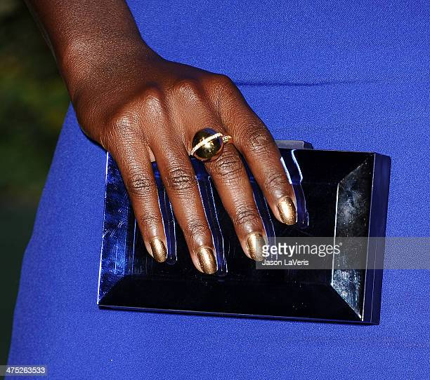 Actress Lupita Nyong'o is honored by LoveGold at Chateau Marmont on February 26 2014 in Los Angeles California