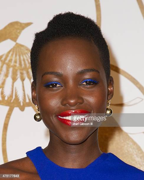 Actress Lupita Nyong'o is honored by Sally Morrison LoveGold at Chateau Marmont on February 26 2014 in Los Angeles California