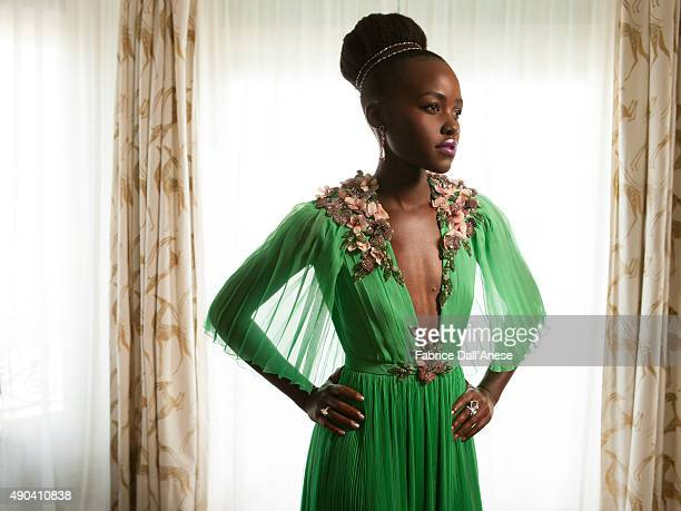 Actress Lupita Nyong'o is photographed for Financial Times on May 15 2015 in Cannes France Jewelry by Chopard