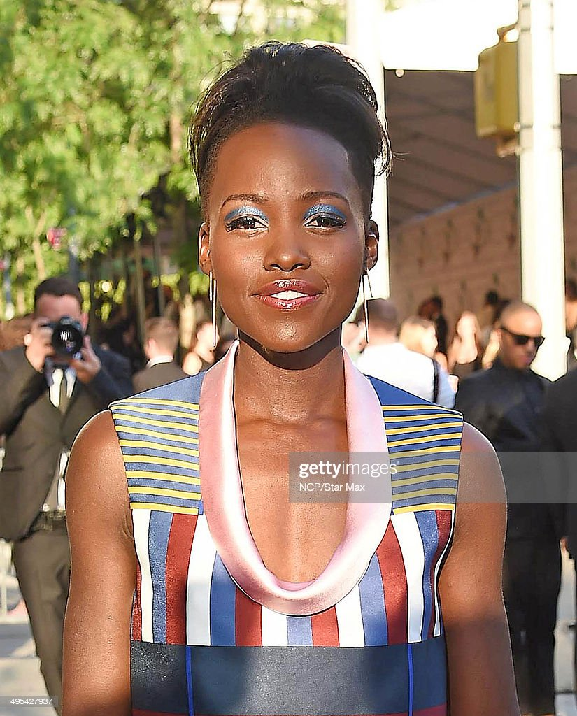 Actress Lupita Nyong'o is seen on June 2, 2014 arriving at The 2014 CFDA Fashion Awards in New York City.