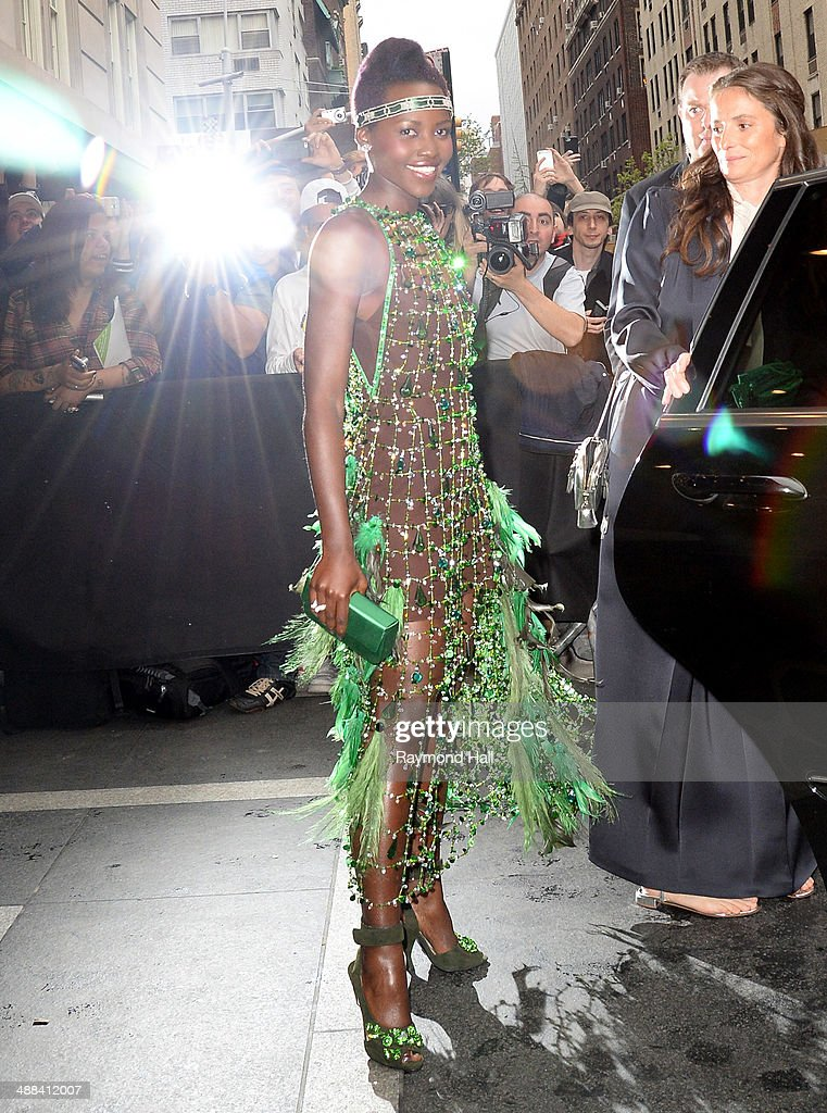 Actress <a gi-track='captionPersonalityLinkClicked' href=/galleries/search?phrase=Lupita+Nyong%27o&family=editorial&specificpeople=10961876 ng-click='$event.stopPropagation()'>Lupita Nyong'o</a> is seen outside the 'Mark Hotel'on May 5, 2014 in New York City.