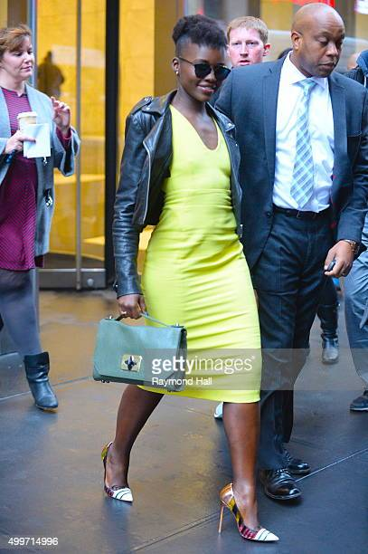 Actress Lupita Nyong'o is seen walking in 'Midtown on December 2 2015 in New York City