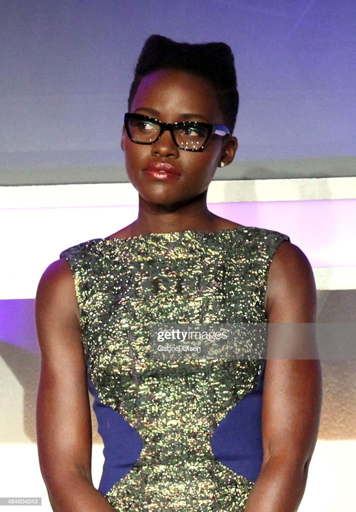 Actress Lupita Nyong'o onstage at the 25th Annual GLAAD Media Awards at The Beverly Hilton Hotel on April 12, 2014 in Los Angeles, California.
