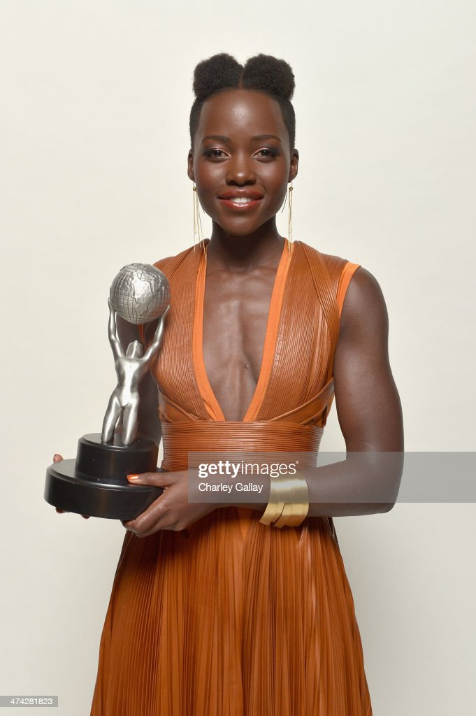Actress <a gi-track='captionPersonalityLinkClicked' href=/galleries/search?phrase=Lupita+Nyong%27o&family=editorial&specificpeople=10961876 ng-click='$event.stopPropagation()'>Lupita Nyong'o</a> poses for a portrait during the 45th NAACP Image Awards presented by TV One at Pasadena Civic Auditorium on February 22, 2014 in Pasadena, California.