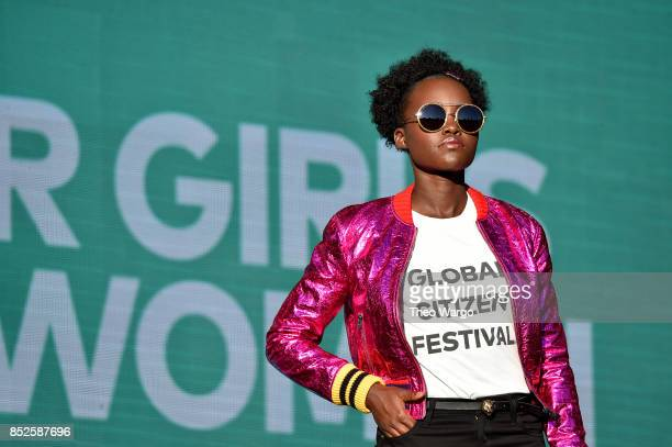 Actress Lupita Nyong'o speaks onstage during the 2017 Global Citizen Festival For Freedom For Justice For All in Central Park on September 23 2017 in...