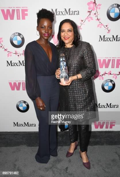 Actress Lupita Nyong'o wearing Max Mara and director and The BMW Dorothy Arzner Directors Award Honoree Mira Nair both wearing 'S Max Mara attend the...