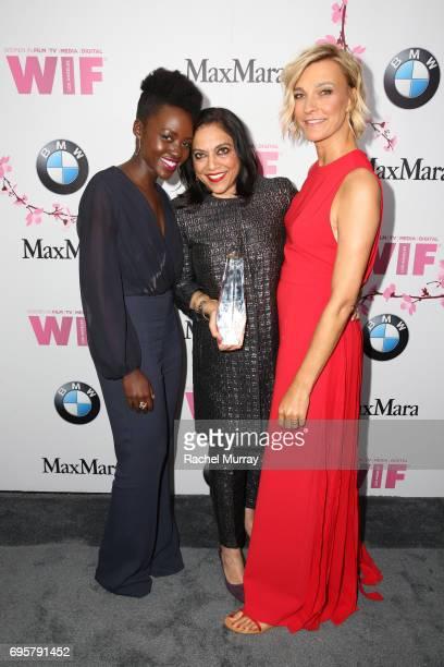 Actress Lupita Nyong'o wearing Max Mara director and The BMW Dorothy Arzner Directors Award Honoree Mira Nair wearing 'S Max Mara and Max Mara...
