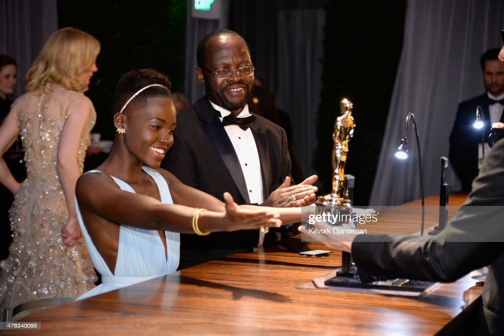 Actress <a gi-track='captionPersonalityLinkClicked' href=/galleries/search?phrase=Lupita+Nyong%27o&family=editorial&specificpeople=10961876 ng-click='$event.stopPropagation()'>Lupita Nyong'o</a>, winner of Best Performance by an Actress in a Supporting Role attends the Oscars Governors Ball at Hollywood & Highland Center on March 2, 2014 in Hollywood, California.