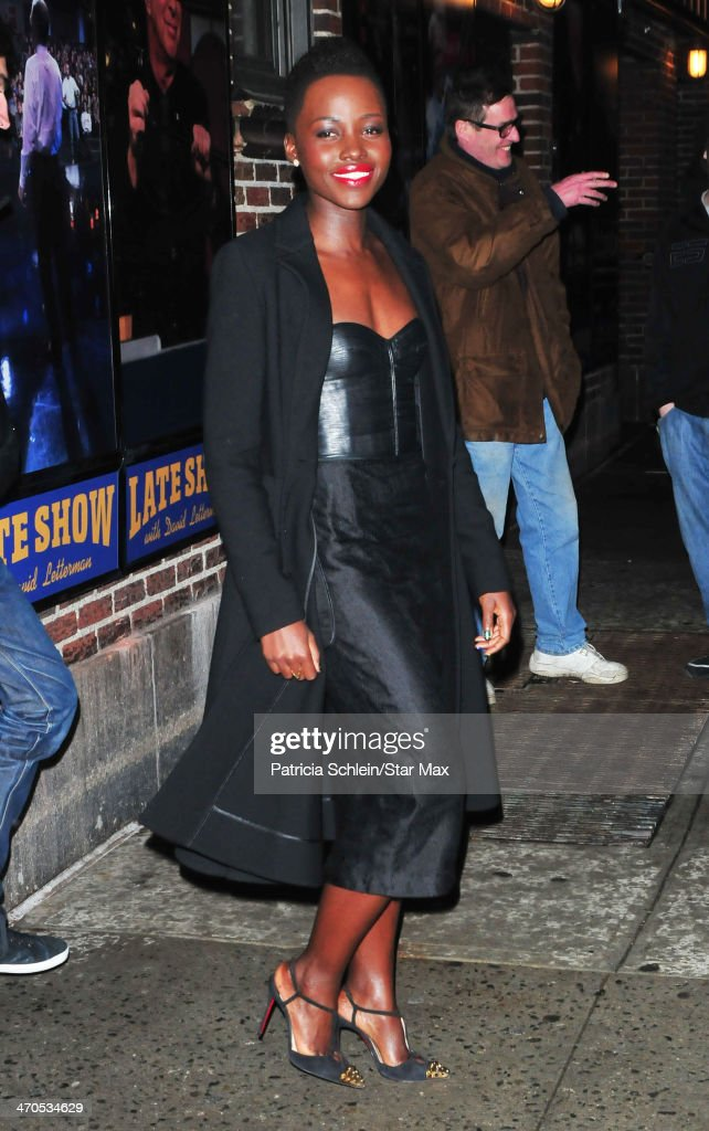 Actress Lupito Nyong'o is seen on February 19, 2014 in New York City.