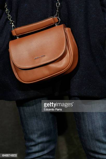 Actress Lydia Bosch handbag detail attends the 'El guardian invisible' premiere at Capitol cinema on March 1 2017 in Madrid Spain