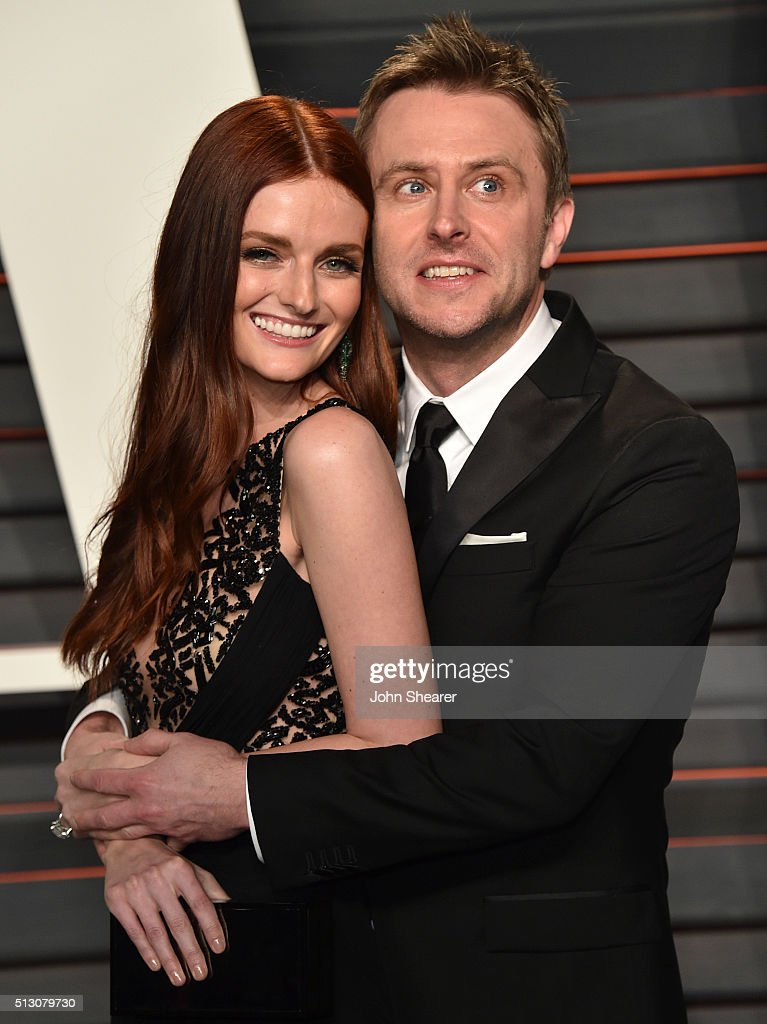 Actress Lydia Hearst and Chris Hardwick arrive at the 2016 Vanity Fair Oscar Party Hosted By Graydon Carter at Wallis Annenberg Center for the...