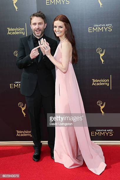 Actress Lydia Hearst and Chris Hardwick attend the 2016 Creative Arts Emmy Awards Day 1 at the Microsoft Theater on September 10 2016 in Los Angeles...