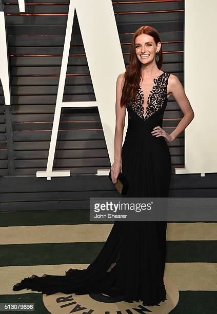 Actress Lydia Hearst arrives at the 2016 Vanity Fair Oscar Party Hosted By Graydon Carter at Wallis Annenberg Center for the Performing Arts on...