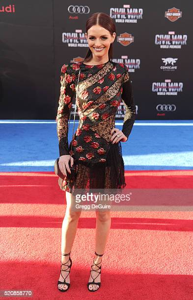 Actress Lydia Hearst arrives at the premiere of Marvel's 'Captain America Civil War' on April 12 2016 in Hollywood California