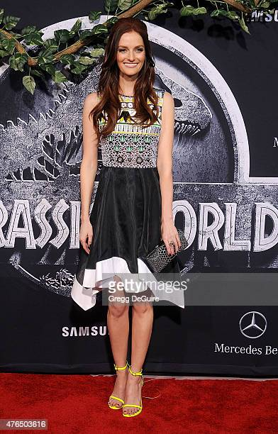 Actress Lydia Hearst arrives at the World Premiere of 'Jurassic World' at Dolby Theatre on June 9 2015 in Hollywood California