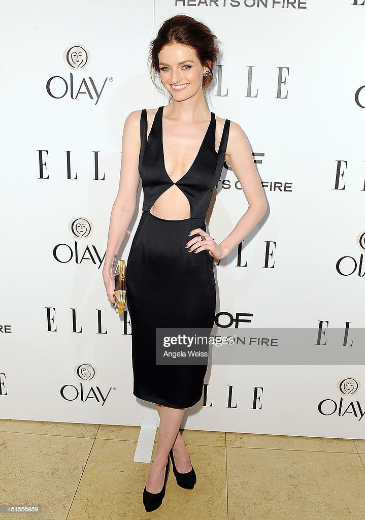 Actress Lydia Hearst attends ELLE's Annual Women in Television Celebration at Sunset Tower on January 22, 2014 in West Hollywood, California.