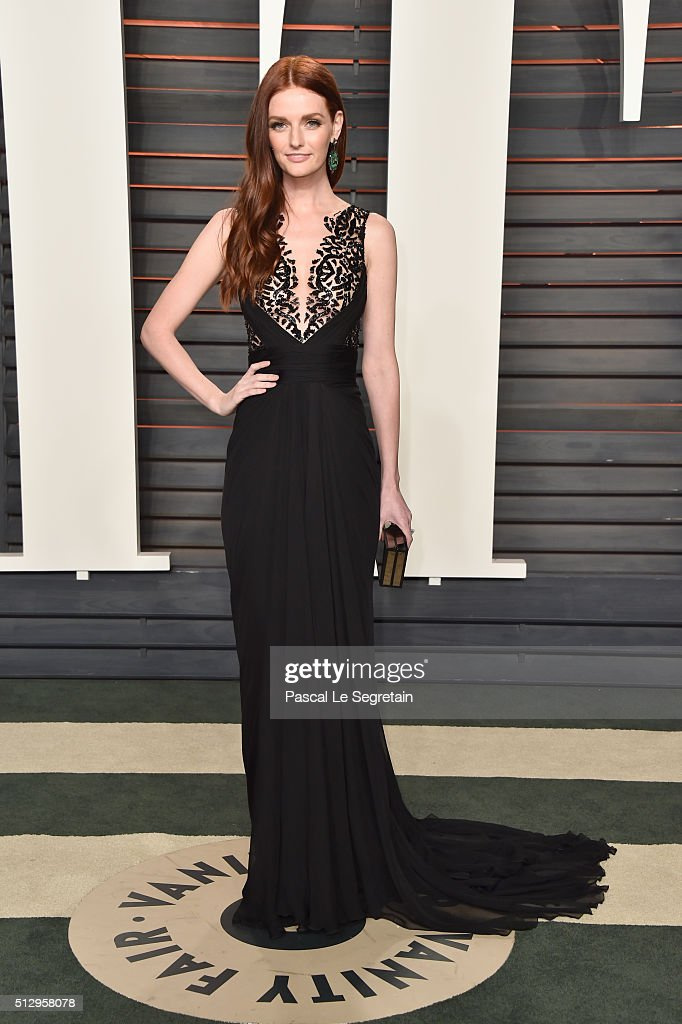 Actress Lydia Hearst attends the 2016 Vanity Fair Oscar Party Hosted By Graydon Carter at the Wallis Annenberg Center for the Performing Arts on...