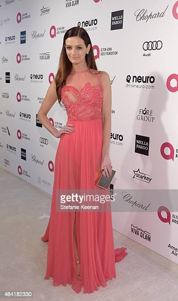 Actress Lydia Hearst attends the 23rd Annual Elton John AIDS Foundation Academy Awards viewing party with Chopard on February 22 2015 in Los Angeles...